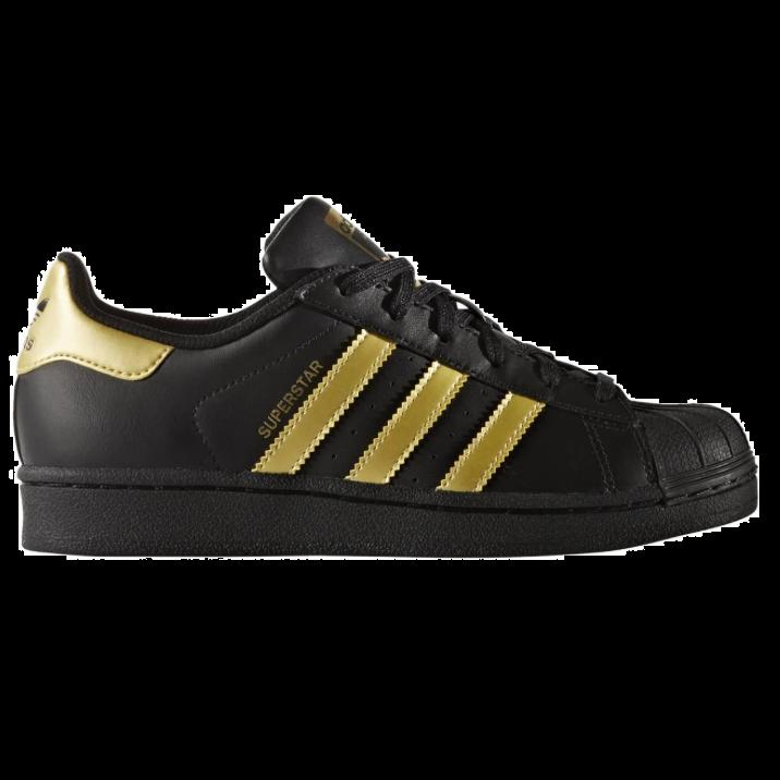 adidas superstar zwart goud