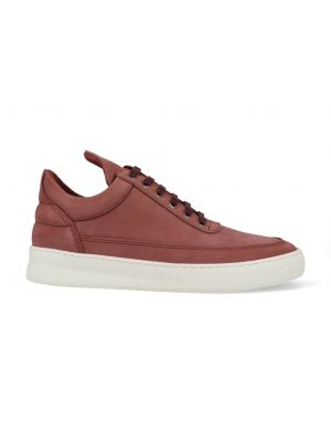 Filling Pieces Low Top Plain Lane Nubuck Maroon