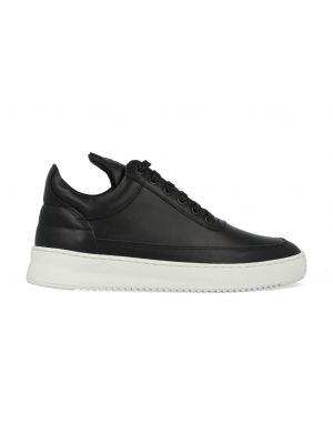 Filling Pieces Low Top Ripple Lane Nappa Zwart