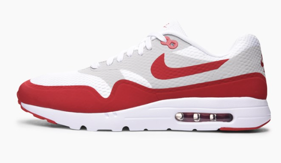 Nike Air Max 1 Ultra Essential 819476-106 Wit-Rood