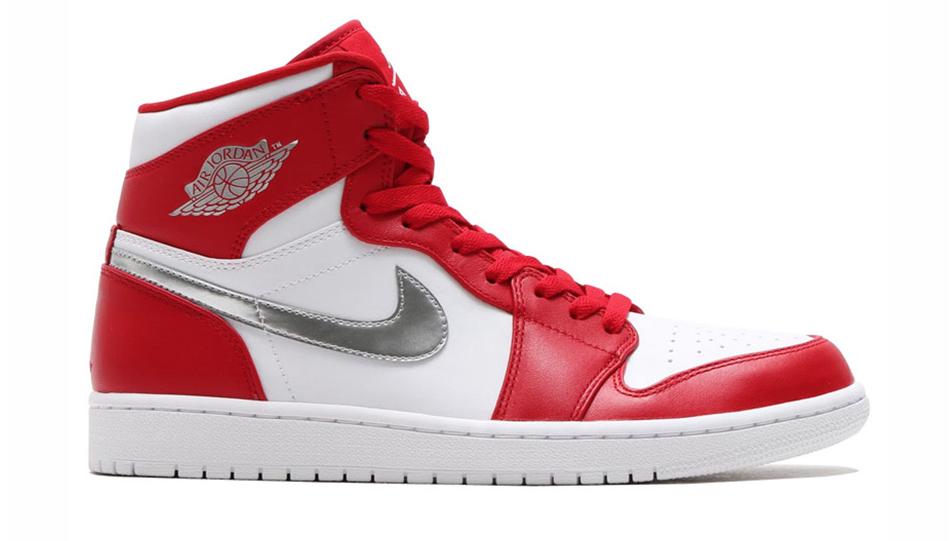 Nike Air Jordan 1 Retro 705300-602 Rood Wit Zilver