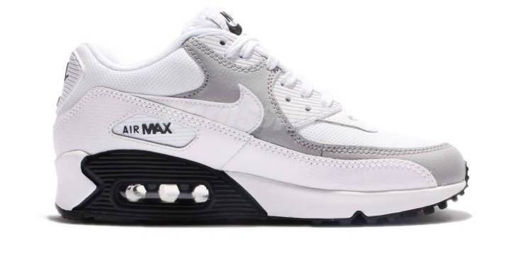 Nike Air Max 90 325213-126 Wit Grijs Zwart
