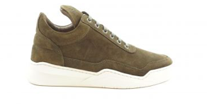 Filling Pieces Low Top Ghost Waxed Suede Dark Green