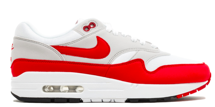 Nike Air Max 90/1 AQ1273-100 Rood / Wit-36